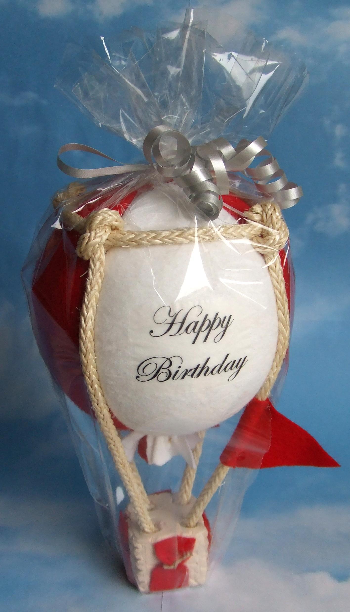 Modellballon kugelförmig rot/weiß