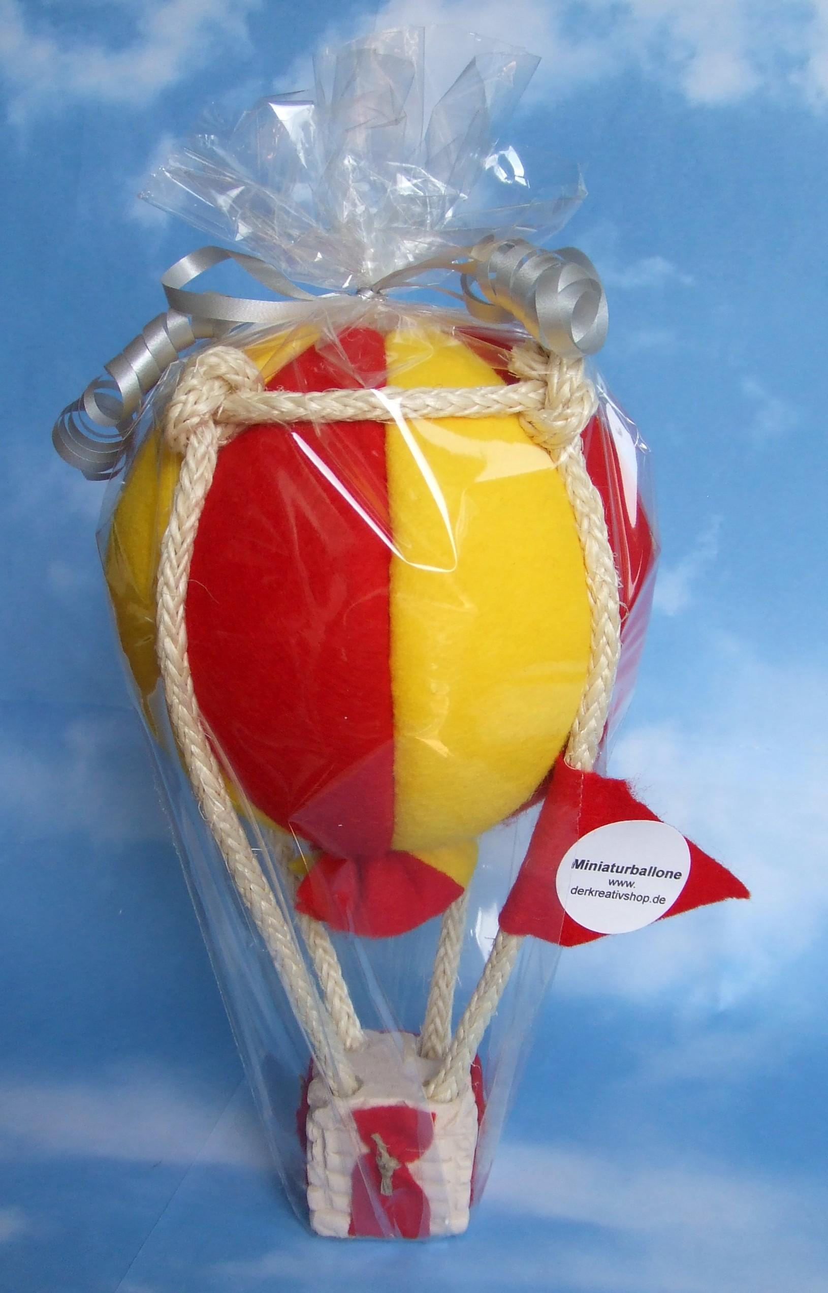 Modellballon kugelförmig rot/gelb