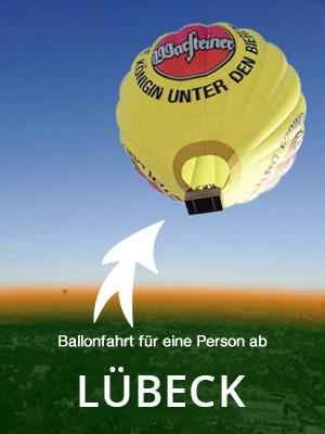 Ballonfahrt für eine Person, am Wochenende und Feiertags ab Lübeck