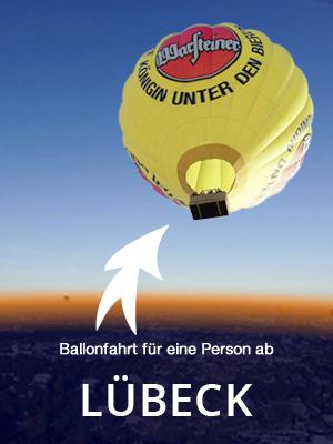 Ballonfahrt für eine Person, wochentags ab Bad Oldesloe